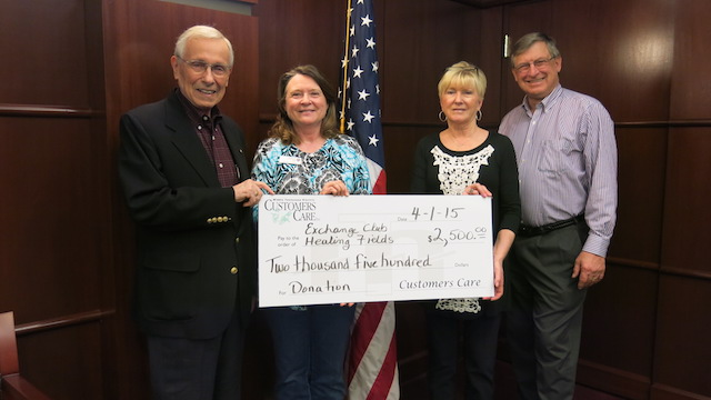 Murfreesboro Noon Exchange Healing Field receives $2,500 from MTE Customers Care