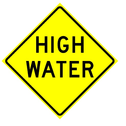 Do NOT Attempt To Travel On Water Covered Roads