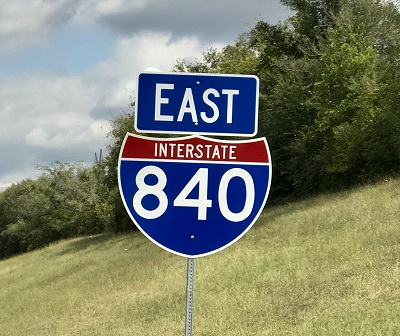 Interstate 840 Signs Going Up
