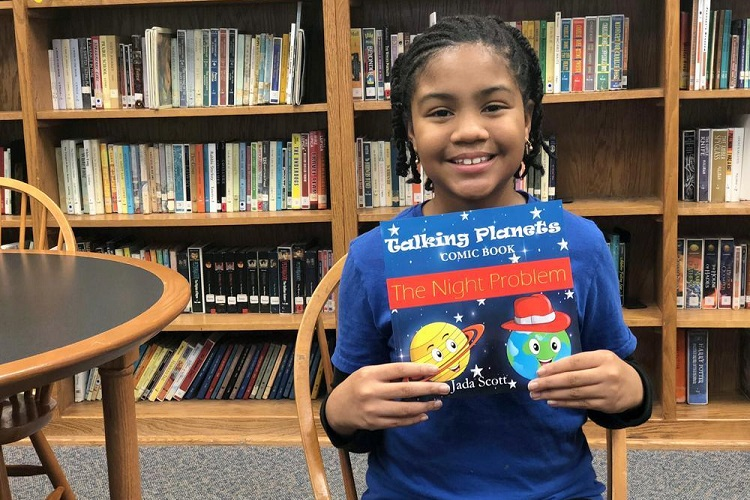 5th Grader Publishes Book, Held Book Signing at Discovery School at Bellwood