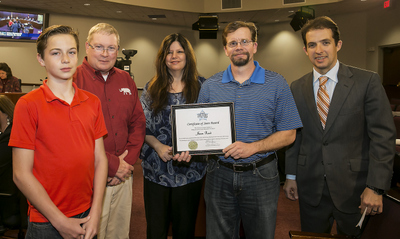 City recognizes Solid Waste employee Jason Reed with STARS Award