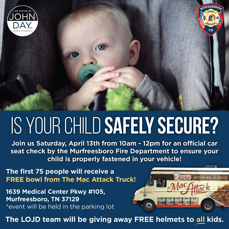Free Car Seat Safety Check SATURDAY