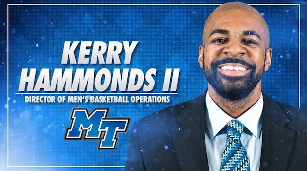 Hammonds returns as MT Basketball Director of Operations
