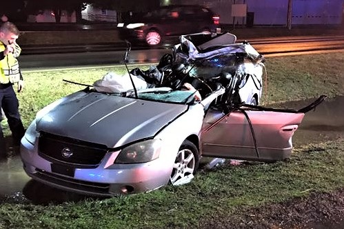 La Vergne Police Field Training Officer Felicia Altheide was driving to work Tuesday morning when she was involved with a serious crash at the intersection of Murfreesboro and Florence Roads when a tractor-trailer rig pulled out and her vehicle ran under the trailer.