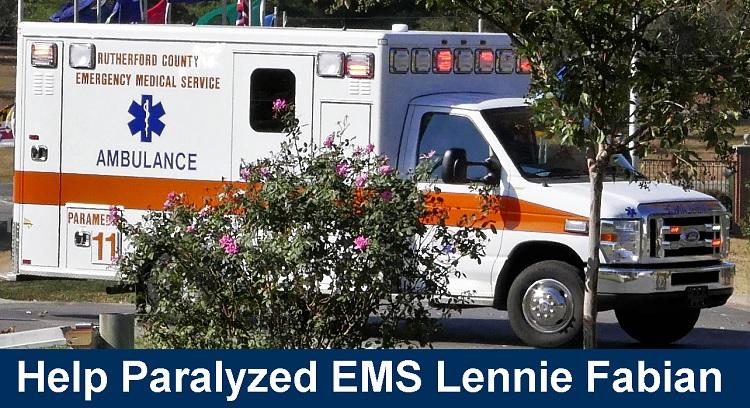 Fundraiser for Paralyzed EMS' Lennie Fabian