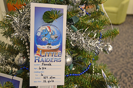 MTSU seeks True Blue Secret Santas for 2018 Little Raiders gift-giving campaign