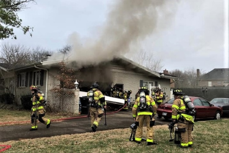 Friday Afternoon Home Fire on Chickasaw Road
