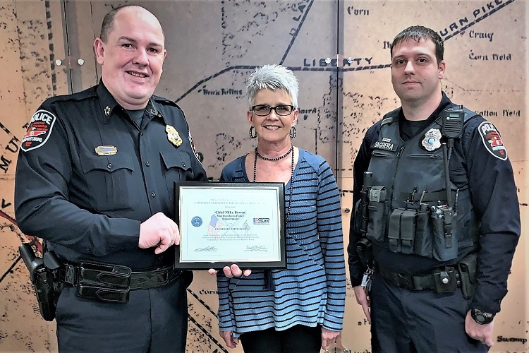 MPD Chief Michael Bowen Receives Patriotic Award