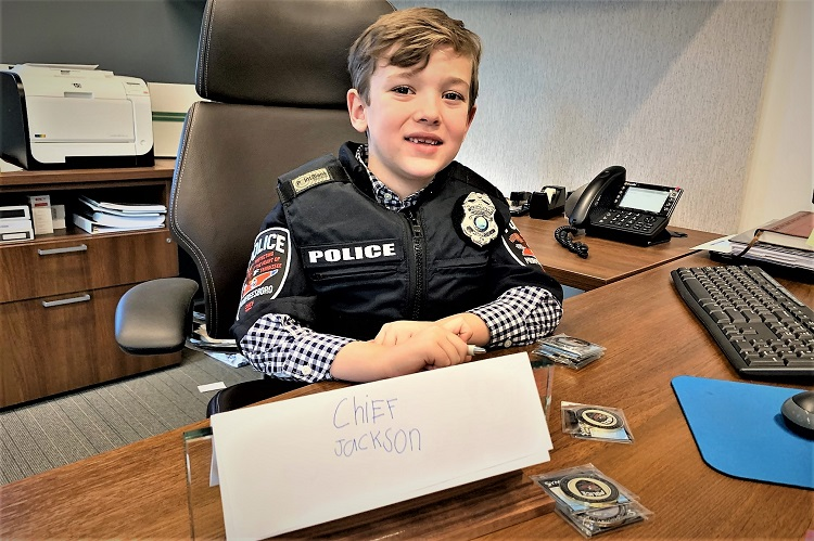 St. Rose Student Jackson Sloan Was MPD Chief of the Day