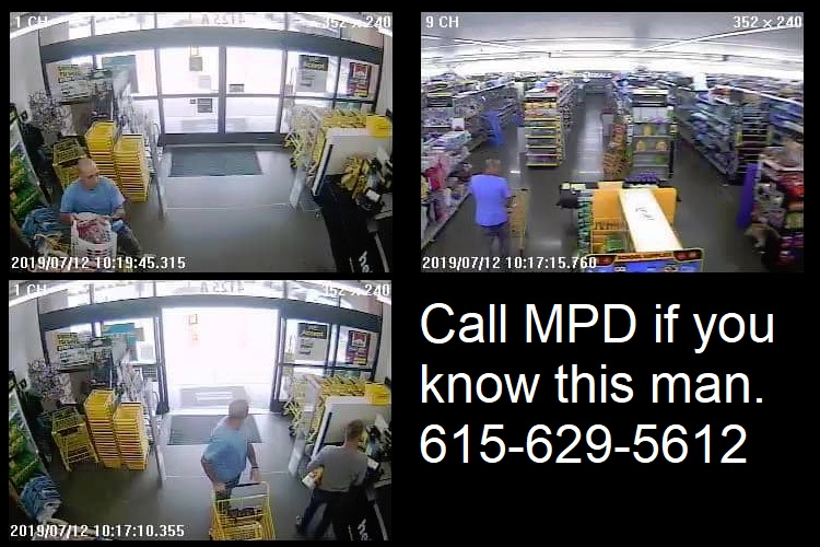 MPD Needs Help: ID shoplifter at Dollar General, Manson Pk.