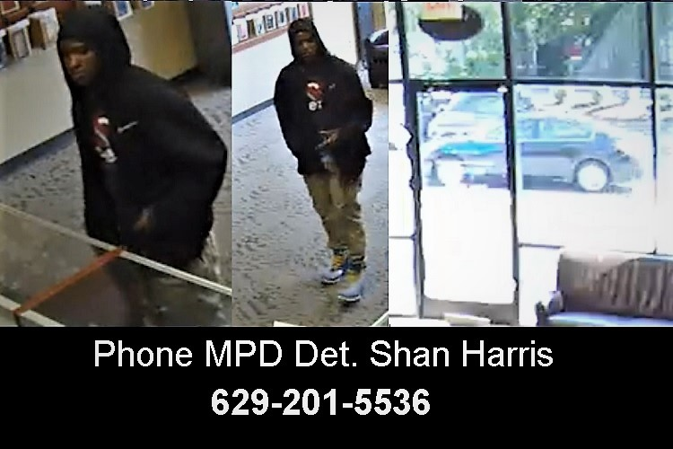If you recognize this man, please phone Murfreesboro Police Detective Shan Harris at 629-201-5536.