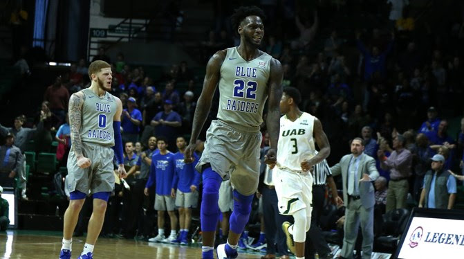 MT Men Clinch CUSA Title with 66-64 win at UAB