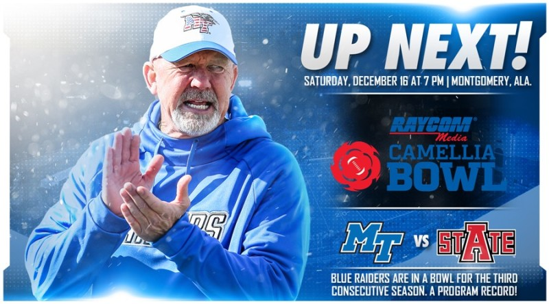 Blue Raiders Accept Bid to Camellia Bowl