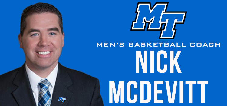 MT MBB Taps UNC-Asheville's Nick McDevitt as Head Coach