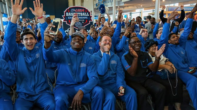 MT Men's Basketball to Face Michigan St. in NCAA Tournament | Middle Tennessee State University, MTSU, men's basketball, NCAA, tournament, basketball