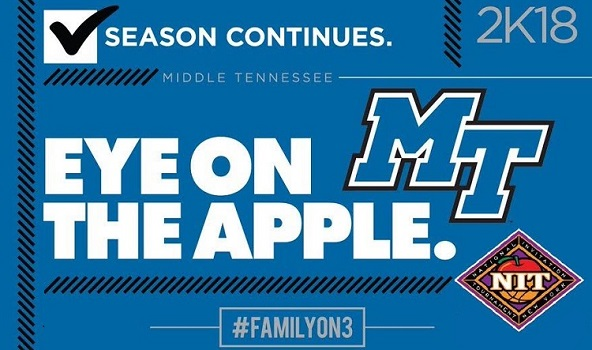Middle Tennessee Pounds Vermont to Open NIT