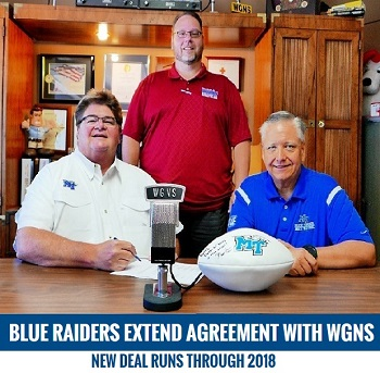 Blue Raiders Staying on NewsRadio WGNS