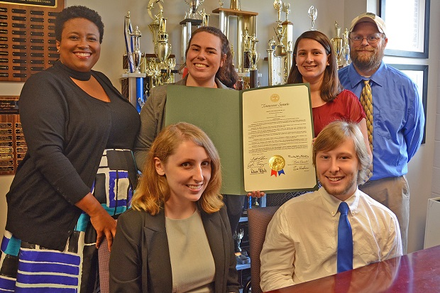 State Senate joint resolution honors success of MTSU Blue Raider Debate team
