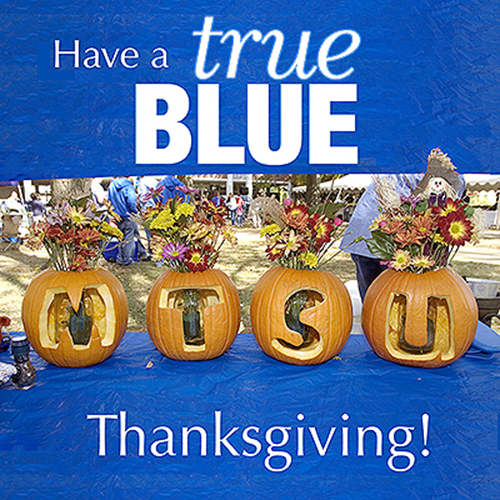 MTSU students, faculty, staff take Thanksgiving break