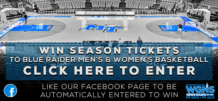 Win season tickets to Blue Raider Men's and Women's Basketball Games from WGNS