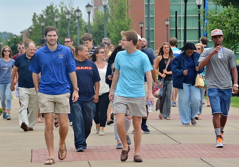 High School Students Tour MTSU Today