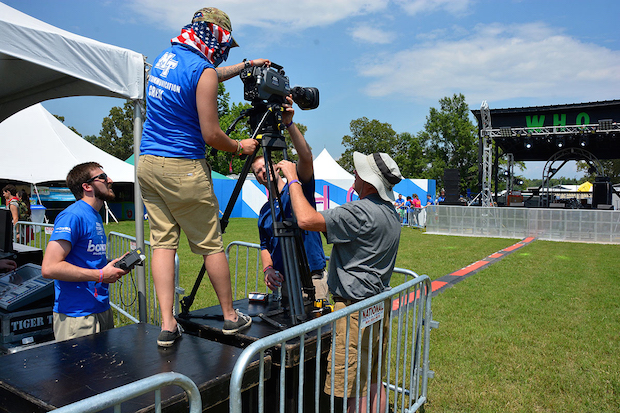 MTSU media students getting 'real-world training' at Bonnaroo