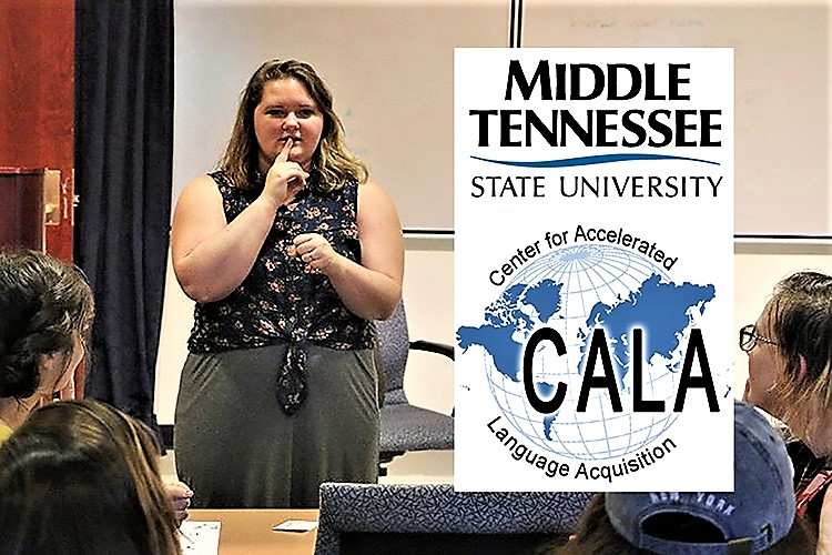 MTSU's American Sign Language courses will continue this summer through digital technology. The Center for Accelerated Language Acquisition, or CALA, will use a video conferencing platform called Jitsi to conduct two separate sections of classes from 1 to 2:30 p.m. June 15-19 and from 1 to 2:30 p.m. June 22-26.