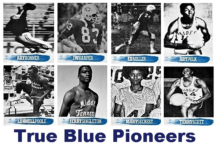 In conjunction with February's Black History Month observances, Middle Tennessee State University is honoring eight former student-athletes for being True Blue pioneers.
