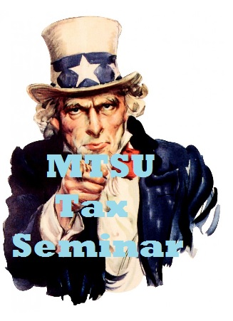 "REGISTER NOW for July 28th ""Tax Seminar"" at MTSU | Tax Seminar, MTSU, July 28, 2016, WGNS"
