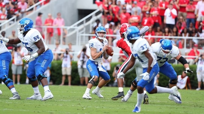 Blue Raider FB Falls at #3 Georgia