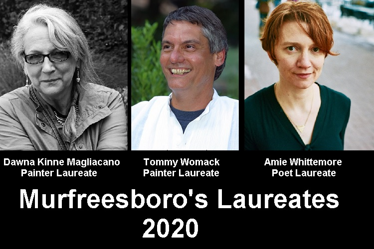The public is invited as Murfreesboro Cultural Arts will introduce and honor the 2020 Painter, Photographer and Poet Laureates at a reception January 12 from 2:00 to 4:00 p.m. at the Washington Theatre Community Gallery located in Patterson Park Community Center.