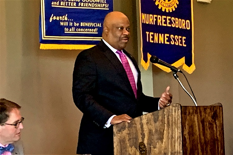 Rotary Learns About New Music City Museum | National Museum of African American Music, Henry Hicks, President and CEO, Murfreesboro Rotary, WGNS