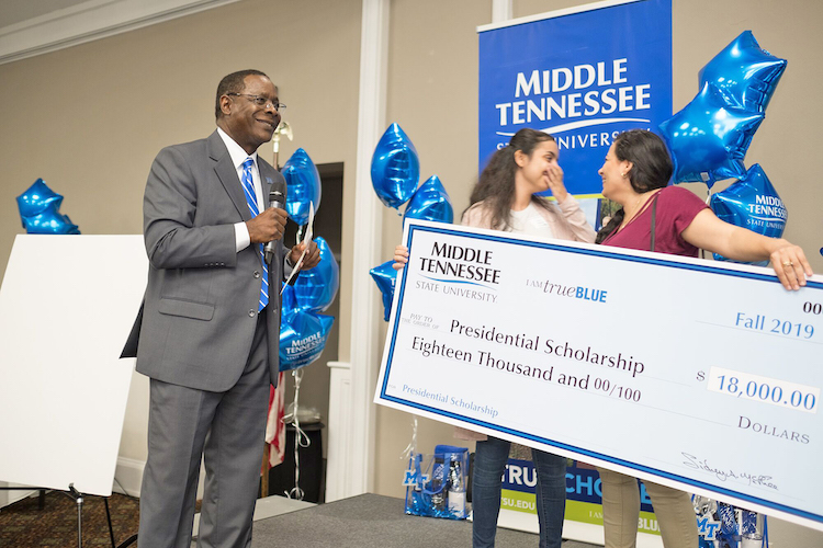 Nashville student 'speechless' after  True Blue Tour recruiting stop yields new scholarship