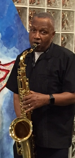 Local Minister Playing Sax At JaZoara's