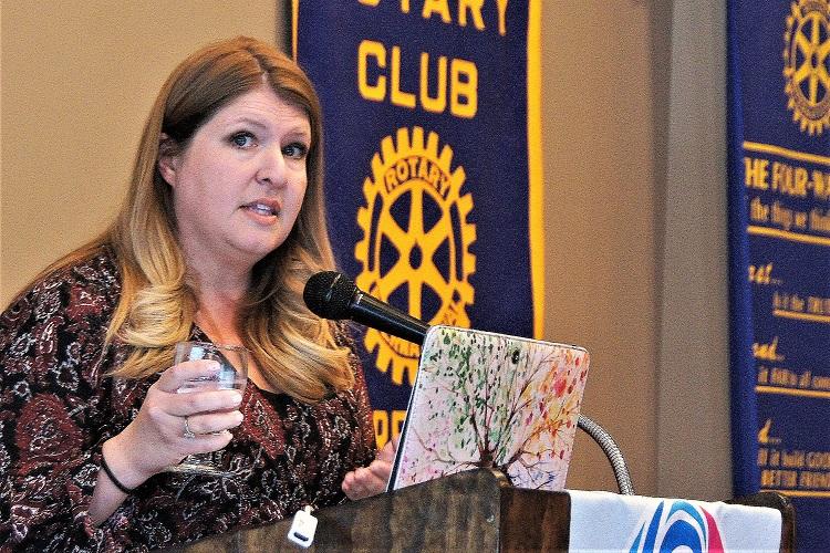 Murfreesboro Rotary Hears How Nourish Food Bank Helps   Nourish Foodbank, Murfreesboro Rotary Club, Frank Caperton, WGNS