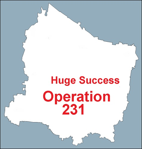 Tuesday's OPERATION 231 Was Big Success