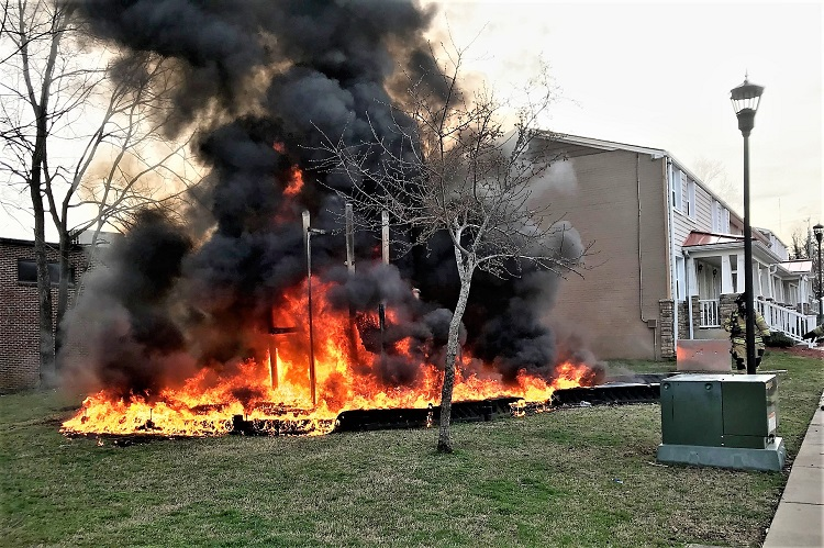 Parkside Housing Playground UP IN FLAMES Monday