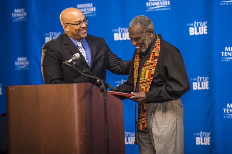 Africana Studies director Louis Woods receives MTSU's John Pleas Faculty Award