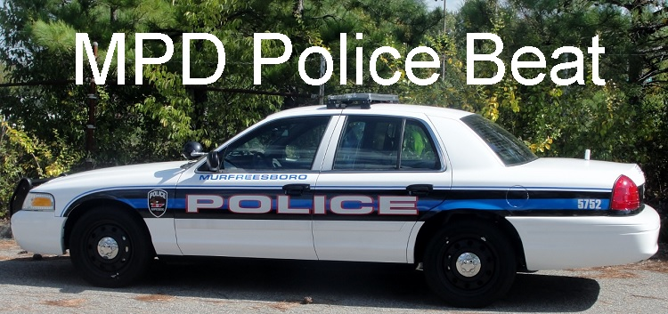 POLICE BEAT: Storms Don't Slow Number of Calls   MPD, Police Beat, Murfreesboro, WGNS