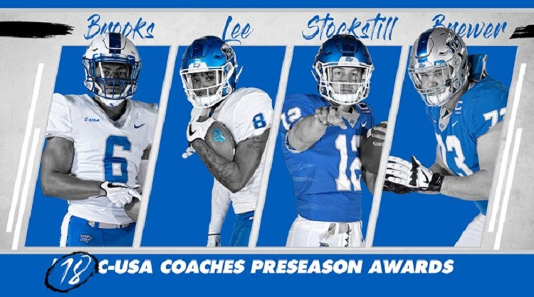MT FB: Four Blue Raiders on Preseason Team