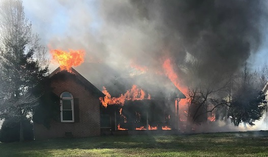 3:30PM Wednesday Blaze Destroys Home