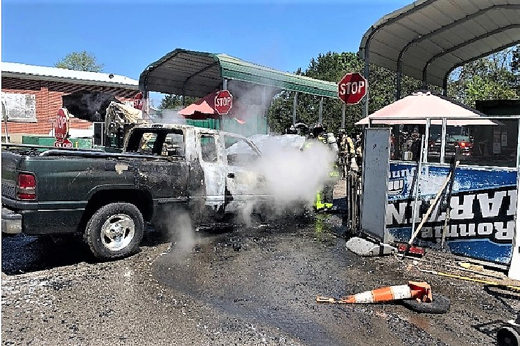 Around lunchtime Saturday (5/9/2020) firefighters responded to a vehicle fire call at the Rutherford County Convenience Center on Almaville Road.