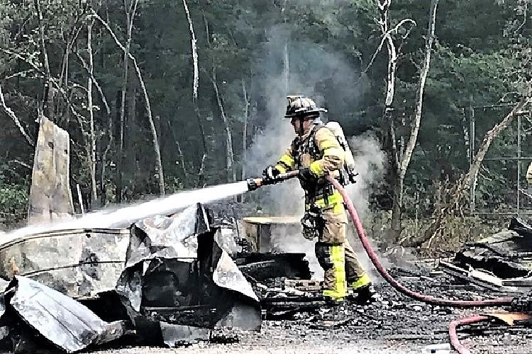 Thursday AM Blaze Damages Rucker Rd. Home