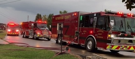 RCFR Responds To Sunday Night Home Fire