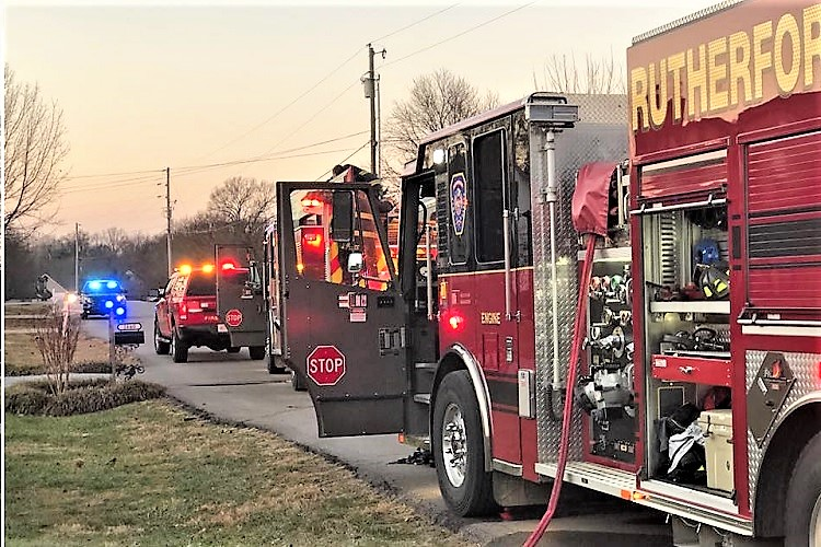 On Saturday afternoon units from Rutherford County Fire Rescue answered a chimney fire call to Crosspark Drive.