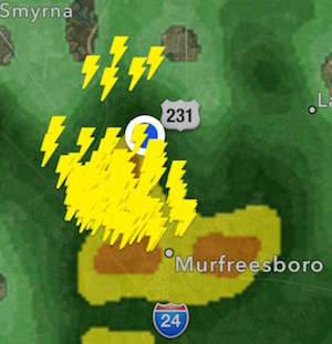 Severe Storms Rake RuCo | storm, high winds, hail, lightning, flooding, Murfreesboro weather