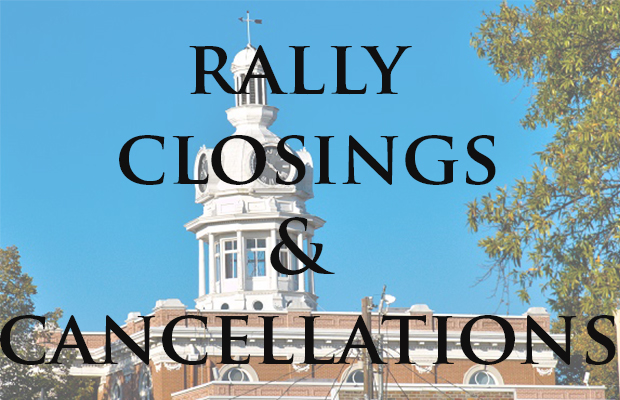 Business Close; Events Canceled Saturday Because of Rally