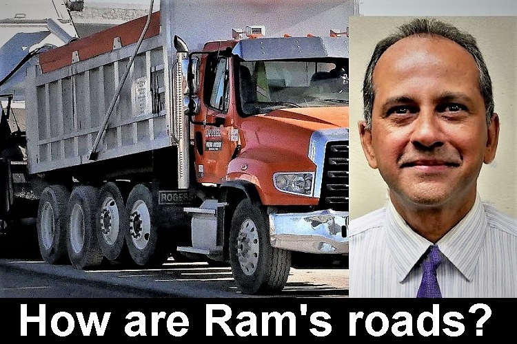 First you think it's spring and then it's not. Then it feels like winter, next day it's hot. Deputy Traffic Director Ram Balachandran checks construction schedules to give areas for 'Boro motorists to avoid between today and May 16, 2020.