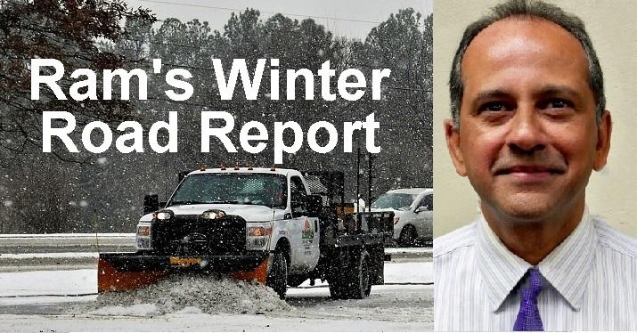 Ram's Wintry Mix Traffic News   Ram Balachandran, Murfreesboro, winter traffic, WGNS