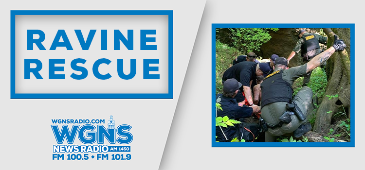 Rescue of Christiana man trapped in 30-foot ravine